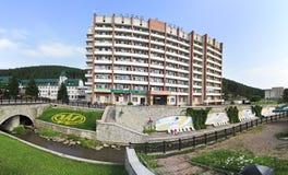 Altai-ovest del sanatorio nella località di soggiorno Belokurikha Immagini Stock Libere da Diritti