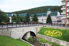 Altai-ovest del sanatorio nella località di soggiorno Belokurikha Fotografie Stock