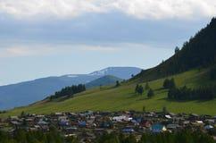 Altai, paesaggio rurale Fotografie Stock Libere da Diritti