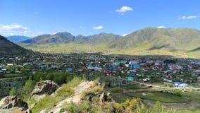 altai Piękna Ongudai wioska Obrazy Stock