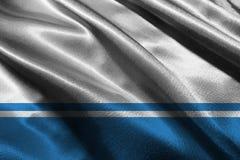 Altai Republic flag 3D illustration symbol. Russia flag. Altai Republic flag 3D illustration symbol. Russia royalty free illustration