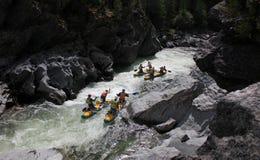 Extreme rafting on the Bashkaus River royalty free stock photo