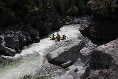Extreme rafting on the Bashkaus River stock photos