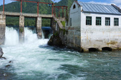 Altai: retro hydroelectric power Royalty Free Stock Image