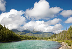Altai river Katun Stock Photo