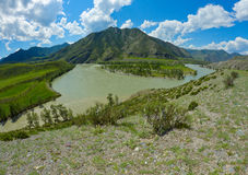 Altai river mountains Stock Image