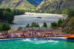 Altai, Russia August 08, 2018: royalty free stock image