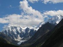 Altai, Russia. Snow in the Altai Mountains stock photos