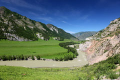 Altai State Natural Biospheric Reserve, Chuya River, Russia. Royalty Free Stock Image