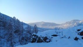 altai Styczeń 33c krajobrazu Rosji zima ural temperatury Fotografia Stock