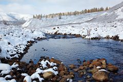 Altai under snow Stock Photography