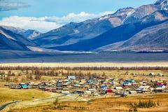 Altai village Kurai Royalty Free Stock Image