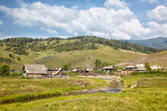 Altai village Stock Photos