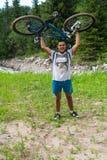 Altai w górze na rowerze obraz royalty free