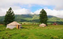 Altai yurt στοκ φωτογραφίες