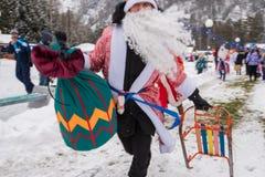 Altaiskaya zimovka假日-第一天冬天 免版税库存照片