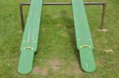 Altalene a bilico verdi gemellate Immagine Stock Libera da Diritti