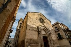 Stunning Italian church in cloudy summer day stock photography
