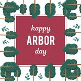 Altana dzień moda meble wysoki Wektorowa ilustracja dla wakacje Symbol drzewnictwo, lasy, rolnictwo przestrzeń obrazy stock