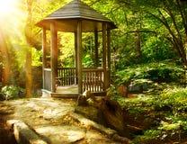 Altana w Jesiennym Parku Zdjęcia Stock