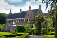 altany kasztelu ogród drewniany Zdjęcia Royalty Free