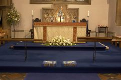 Altar. Church wedding altar Royalty Free Stock Image