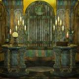 Altar. Illustration of a spooky altar Stock Images