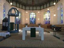 Altar-Abschnitt in der lutherischen Kirche in PLön Lizenzfreie Stockbilder