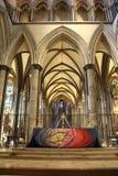 Altar alto na catedral de Salisbúria foto de stock royalty free