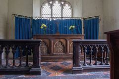Altar Alveringham de la iglesia de St Mary imagen de archivo libre de regalías