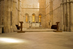Altar in ancient italian church Royalty Free Stock Photos