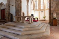 Altar and Apse of the Santa Clara Church. Royalty Free Stock Photo