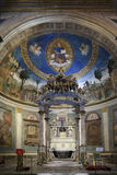 Altar and apse of Santa Croce in Gerusalemme church in Rome. Stock Photos