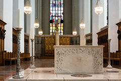 Altar area at Church of Our Lady in Bavaria Royalty Free Stock Photo