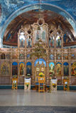 Altar of the Assumption Cathedral. Myshkin, Yaroslavl region. MYSHKIN, RUSSIA - JULY 13, 2016: Altar of the Assumption Cathedral Royalty Free Stock Photos