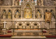 Altar and backdrop of Saint Andrews Church, Fort William Scotlan Royalty Free Stock Photography