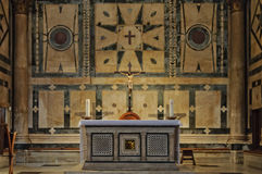 Altar in the Baptistery - Florence Royalty Free Stock Photography
