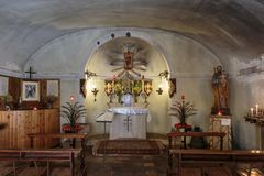 Altar of baroque church. In Italy royalty free stock image