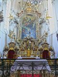 Altar baroque church of the Holy Cross , Sazava monastery , Czech Republic , Europe Royalty Free Stock Image