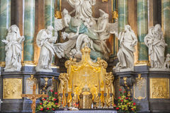 Altar in basilica - Jasna Gora Sanctuary, Czestoch Stock Photos