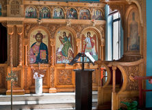 The altar in the Basilica of St. Stephen in Jerusalem. Royalty Free Stock Photography