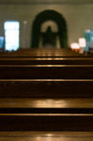 Altar benches Royalty Free Stock Photos