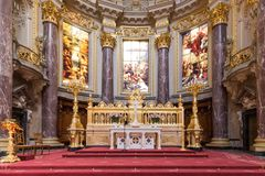 Altar of Berliner Dom, biggest protestant church o Royalty Free Stock Photos