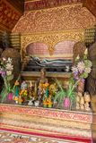 Shrine at the Wat Xieng Thong temple in Luang Prabang Stock Photos