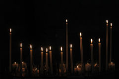 Altar candles. Royalty Free Stock Photography
