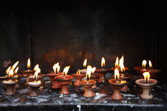 Altar candles. A candle for worship in temples. Nepal Royalty Free Stock Image