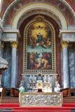 Altar católico Foto de archivo