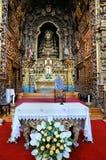 Altar católico Imagen de archivo libre de regalías