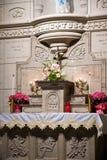 Altar católico Fotografia de Stock