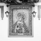 Altar católico en calle pública Fotografía de archivo